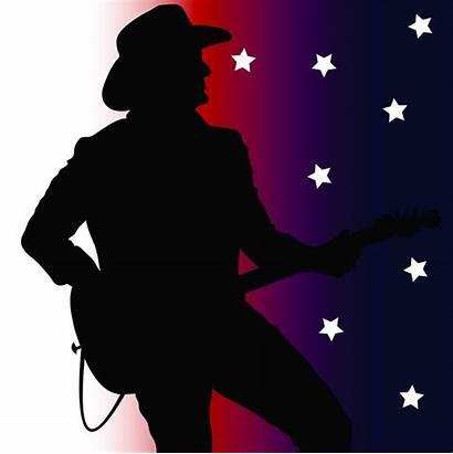 Country Clip Silhouette Guitar Player Songs Illustration