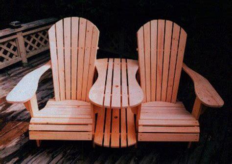 standard size adirondack chair settee kit plan