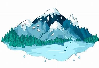Glacier Glaciers Cascade Illustration Project Climate North