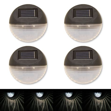 solar led deck lights woodside set of 4 twin led solar powered garden outdoor