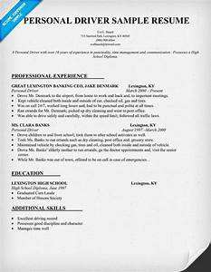 Objective Examples For Customer Service Personal Driver Resume Sample Resumecompanion Com