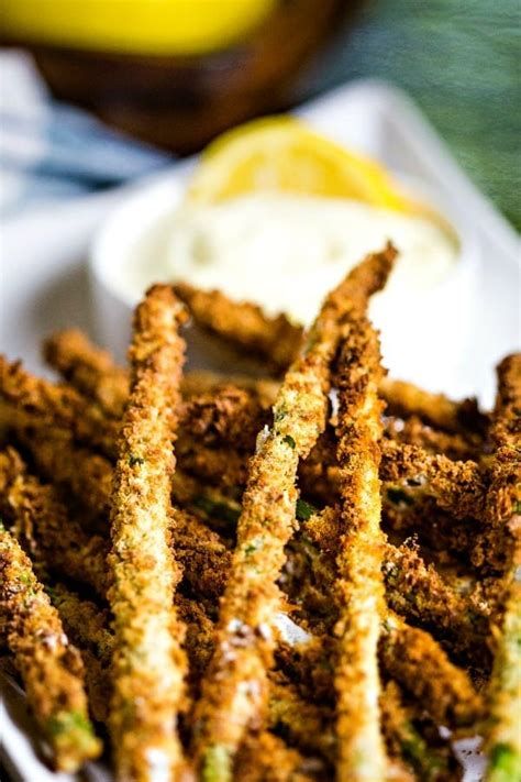 asparagus fryer air fries lemon aioli