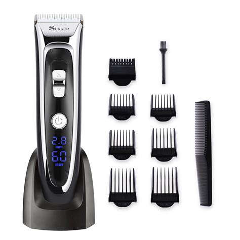 surker rechargeable hair clipper trimmer beard shaver cordless washable