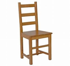 Chaise En Bois : chaise vosges assise bois teinte chene ~ Melissatoandfro.com Idées de Décoration
