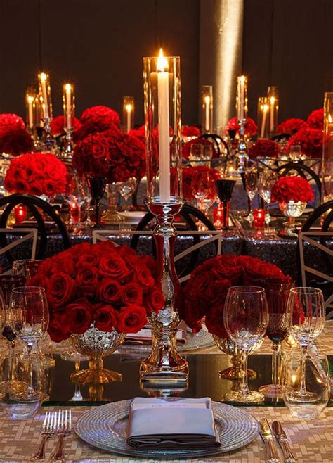 wedding wednesday red wedding decor flirty fleurs