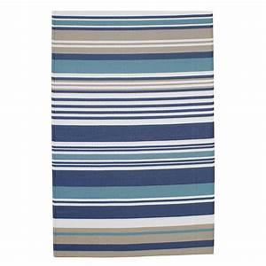 tapis d39exterieur a rayures en polypropylene bleu 180 x With tapis exterieur avec canapé bleu vert
