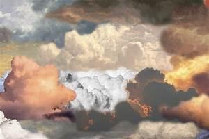 Walking, On, Clouds, Dawn, -, Landscape, 300, X, 200