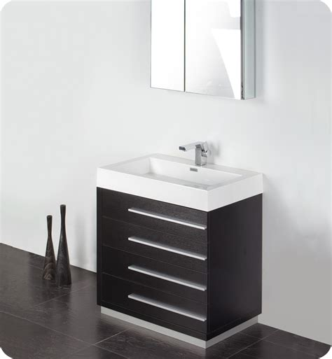 Bathroom Sinks At Home Depot Canada by Fresca Livello 30 Quot White Modern Bathroom Vanity W
