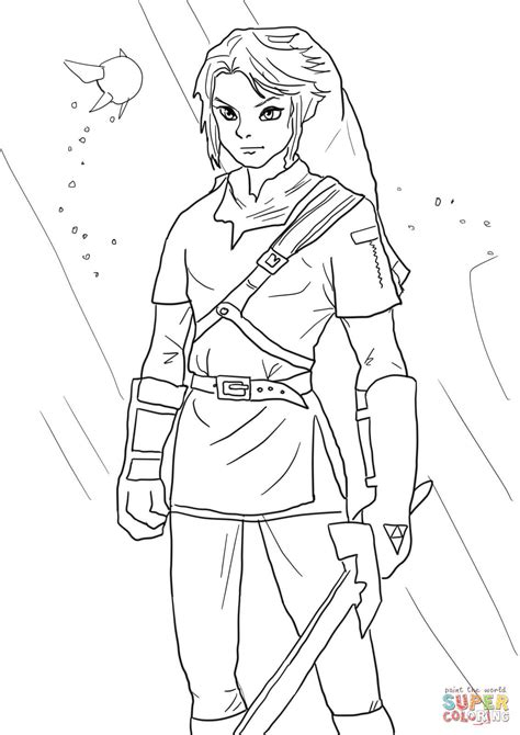 link  legend  zelda coloring page  printable