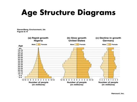 Age Structure Diagram by Ppt Understanding Populations Powerpoint Presentation