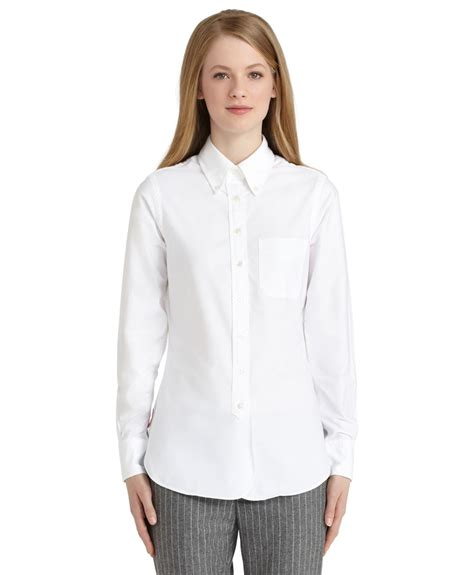 Lyst Brooks Brothers Oxford Button Down Shirt In White
