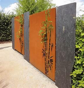 Bambus Edelstahl Sichtschutz : paras corten sichtschutz bambus ~ Markanthonyermac.com Haus und Dekorationen