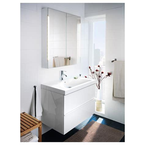 Ikea Mirrors Bathroom by Ikea Storjorm Mirror Cabinet W 2 Doors Light White In