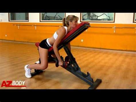Musculation Pour Femme  Rowing Sur Banc Incliné Avec