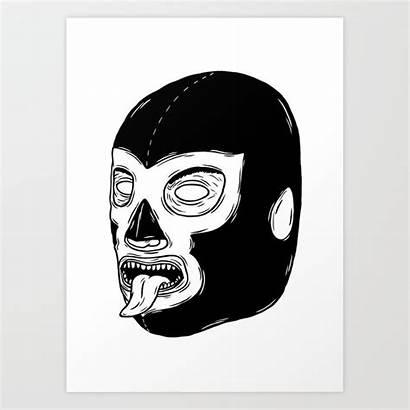 Luchador Society6 Artwork