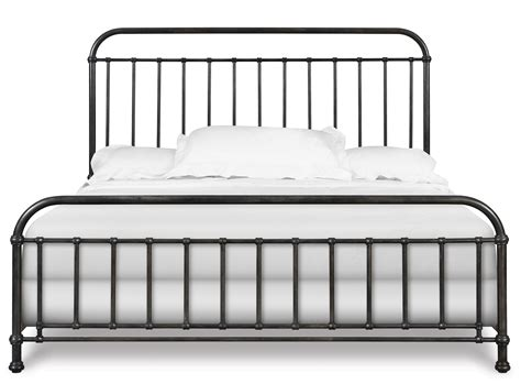 Wrought Iron Headboards King Size Beds by Industrial Revival Style Queen Size Metal Bed By Magnussen