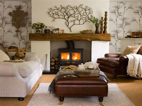 Country Living Room Ideas With Fireplace by Fireplace Mantel Decorating Ideas Pictures Cozy Fireplace