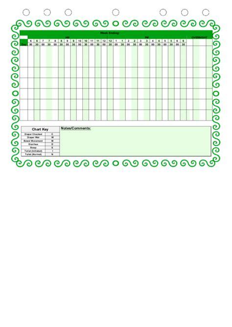 diaper changing log template printable