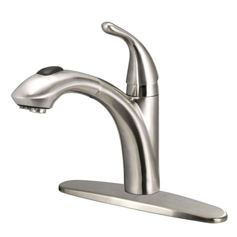 Pull Kitchen Faucets by Glacier Bay Keelia Single Handle Pull Out Sprayer Kitchen