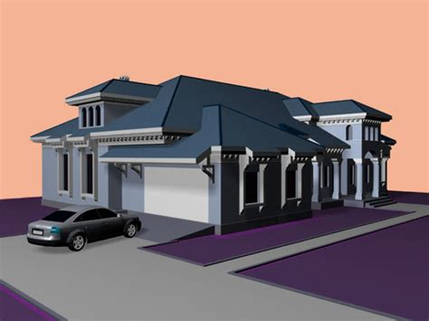 housing project design max ds max software
