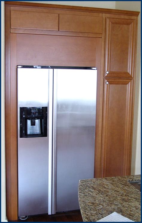 kitchen cabinets refrigerator surround hanson house kitchen cabinets 6353
