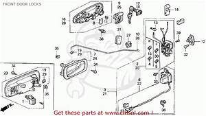 Honda Civic 1995 4dr Dx  Ka  Front Door Locks