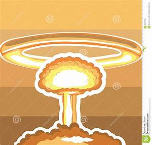 Explosion clipart nuclear explosion - Pencil and in color ...