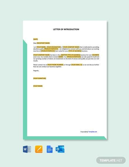 Instantly Download Free Letter of Introduction Template ...