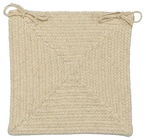 braided shear square neutral chair pad farmhouse