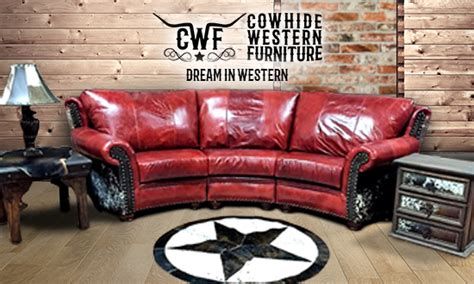 Cowhide Western Furniture Company by Local Landing Cowhide Western Furniture
