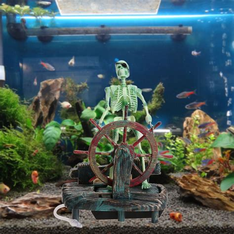 pirate captain aquarium ornament free shipping worldwide