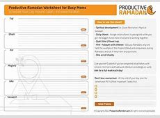 The Ultimate Ramadan Tools Review Worksheets, Planners