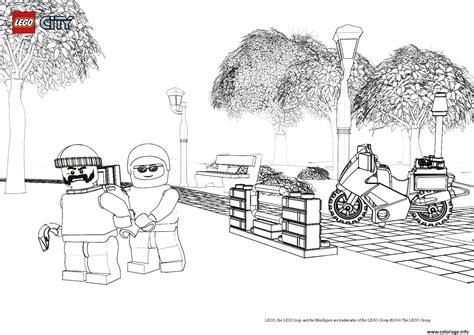 coloriage lego city policier jecoloriecom