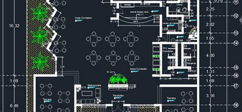 beach restaurant  dwg design plan  autocad designs cad