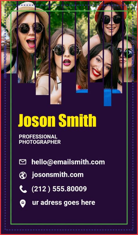 photographer business card psd freedownloadpsdcom