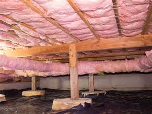 subfloor insulation crawlspace cleanouts