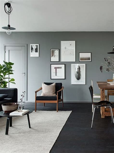 Black And Gray Living Room Carpet by Black Floors Grey Walls And Lots Of Pieces Living