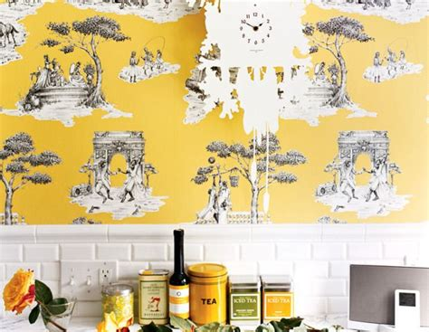 wallpaper for kitchen backsplash best 25 yellow kitchen wallpaper ideas on 6973