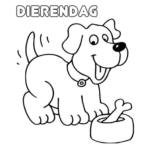 Kleurplaat Dierendag dierendag kleurplaten kleurplatenpagina nl boordevol