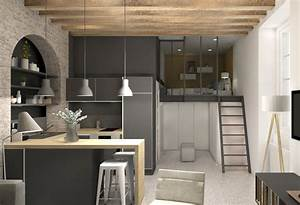 amenagement petite surface appartement maison design With attractive meubles pour petit appartement 5 amenagement de cuisine