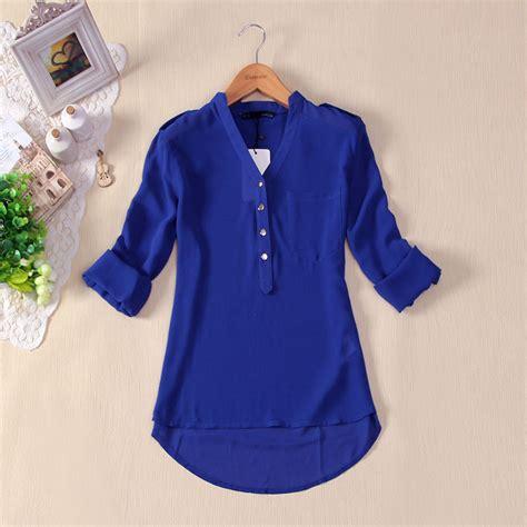 navy blue casual dress womens royal blue blouse fashion ql