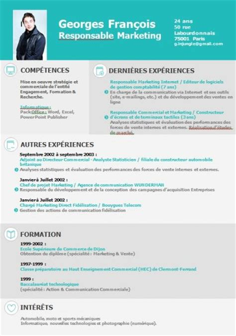Exle Of A Cv by Cv Gratuit Publisher