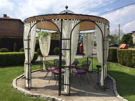 pavillon metall rund massiver rund pavillon metallpavillion metalllaube gartenpavillon 1 000 31655
