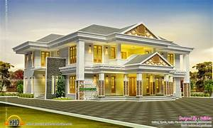 Luxurious sloping roof house