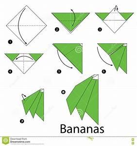 Comment Faire Des Origami : instructions tape par tape comment faire des bananes d ~ Nature-et-papiers.com Idées de Décoration