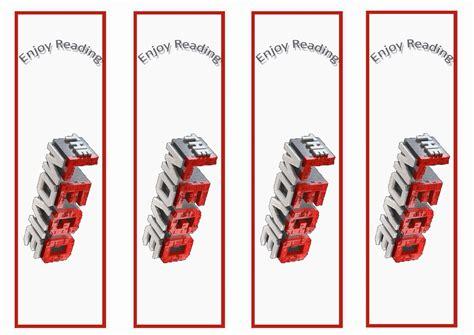 lego  bookmarks birthday printable