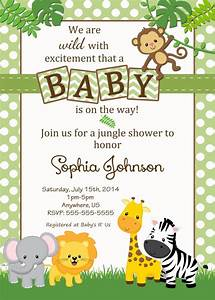 baby shower jungle theme invitations