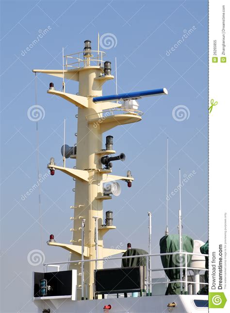 Boat Radar Terms by Marine Radar Stock Image Image Of Device Mast