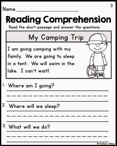 comprehension worksheet for kindergarten the best of teacher entrepreneurs ii kindergarten reading
