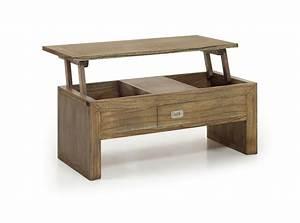 Table Basse Avec Plateau Relevable En Bois De Mindy